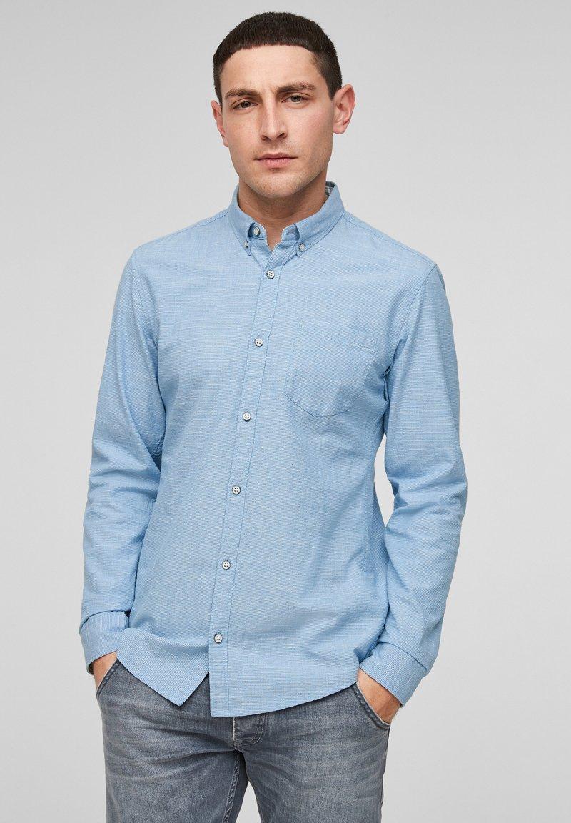 Q/S designed by - Shirt - light blue melange