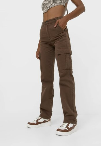 Pantaloni cargo - dark brown