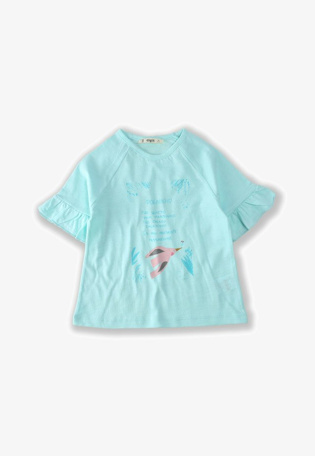BIRD - T-shirt con stampa - turquoise