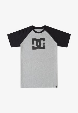 T-shirt print - heather grey/black