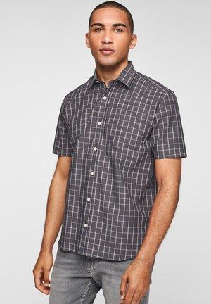 Shirt - dark grey check