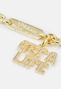 Vivienne Westwood - GET A LIFE LARGE PENDANT - Necklace - gold-coloured/white - 2