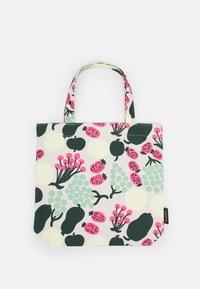 Marimekko - NOTKO PIENI TORI - Shopping bag - off white/green/pink - 1