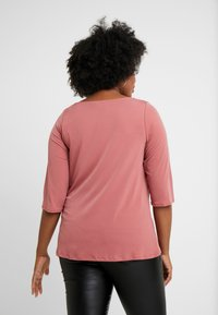 Dorothy Perkins Curve - COWL NECK DUSTY ROSE - Long sleeved top - pink - 2