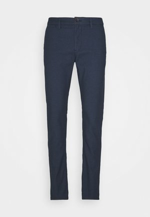STRUCTURE CHINO - Chino - blue two tone