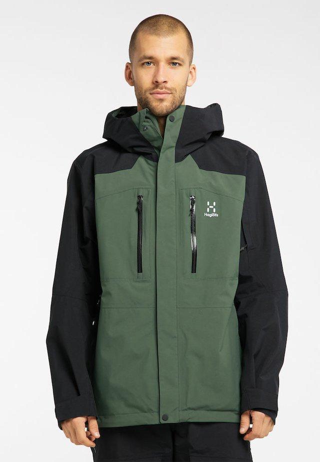 Ski jacket - fjell green/true black