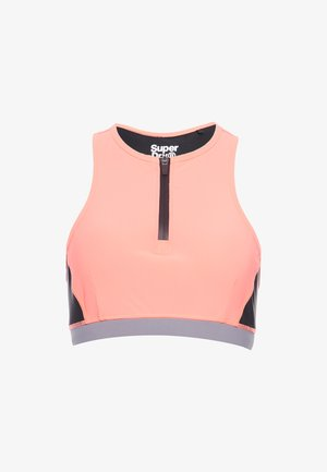 Sports bra - phosphorescent coral