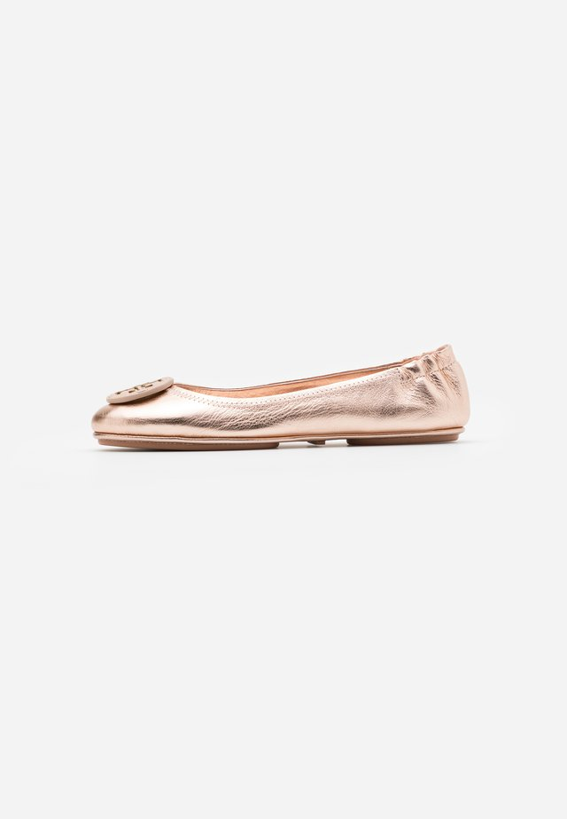 MINNIE TRAVEL WITH LOGO - Ballerine - rose gold