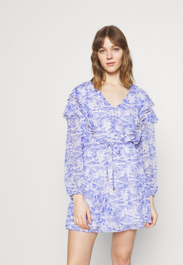 ABITO DRESS - Day dress - blue/white