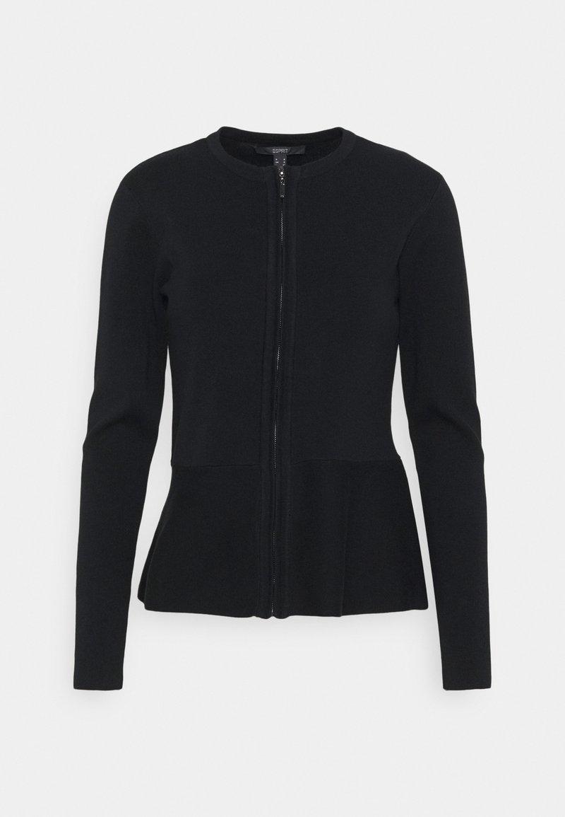 Esprit Collection - PEPLOM CARD - Cardigan - black