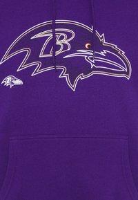 Fanatics - NFL BALTIMORE RAVENS GLOW CORE GRAPHIC HOODIE - Club wear - purple - 4