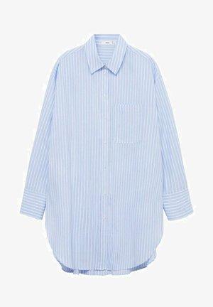 OVERSIZE - Button-down blouse - blau