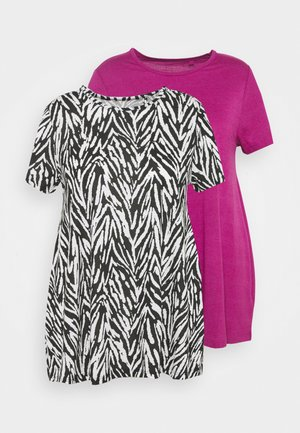 SHORT SLEEVE SWING TUNICS 2 PACK - T-shirts med print - orchid