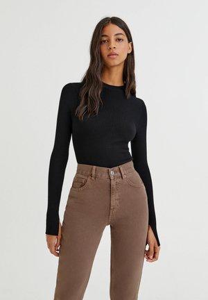 Pullover - mottled black
