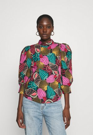 SHELL MIX LONG CUUFS BLOUSE - Pusero - multi
