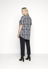 Evans - TURN BACK TOP - Print T-shirt - navy - 2