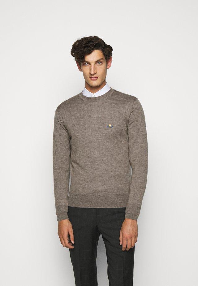 CLASSIC ROUND NECK - Jumper - grey