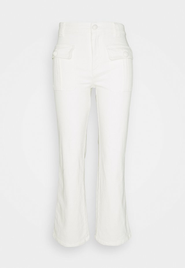 Flared Jeans - brilliant white