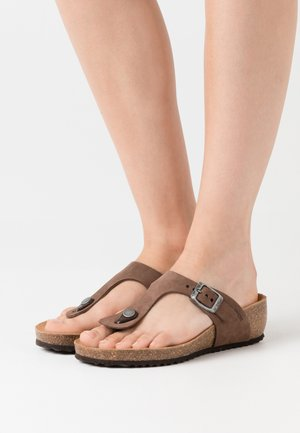 T-bar sandals - coffee