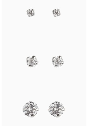 STERLING SILVER CRYSTAL STUDS THREE PACK - Earrings - silver