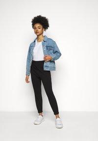 Vero Moda Petite - VMELLA BASIC PANT - Trousers - black - 1