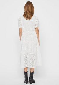 Vero Moda - STICKEREI - Maxi dress - snow white - 1