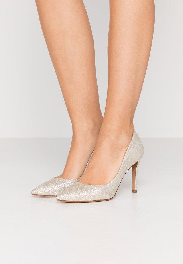 High heels - glitter platin