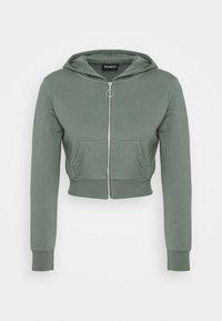 Even&Odd Petite - Zip-up hoodie - green - 4
