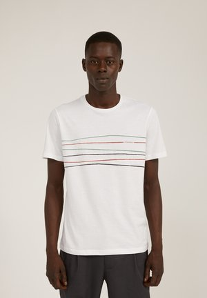 JAAMES CROOKED LINES - Print T-shirt - white