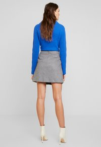 Marc O'Polo - SHORT SKIRT FEMININE CUTLINES - A-line skirt - middle stone melange