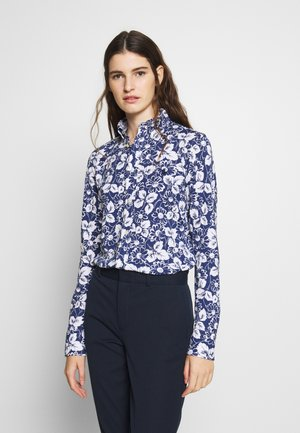 HEIDI LONG SLEEVE - Button-down blouse - blue/ white
