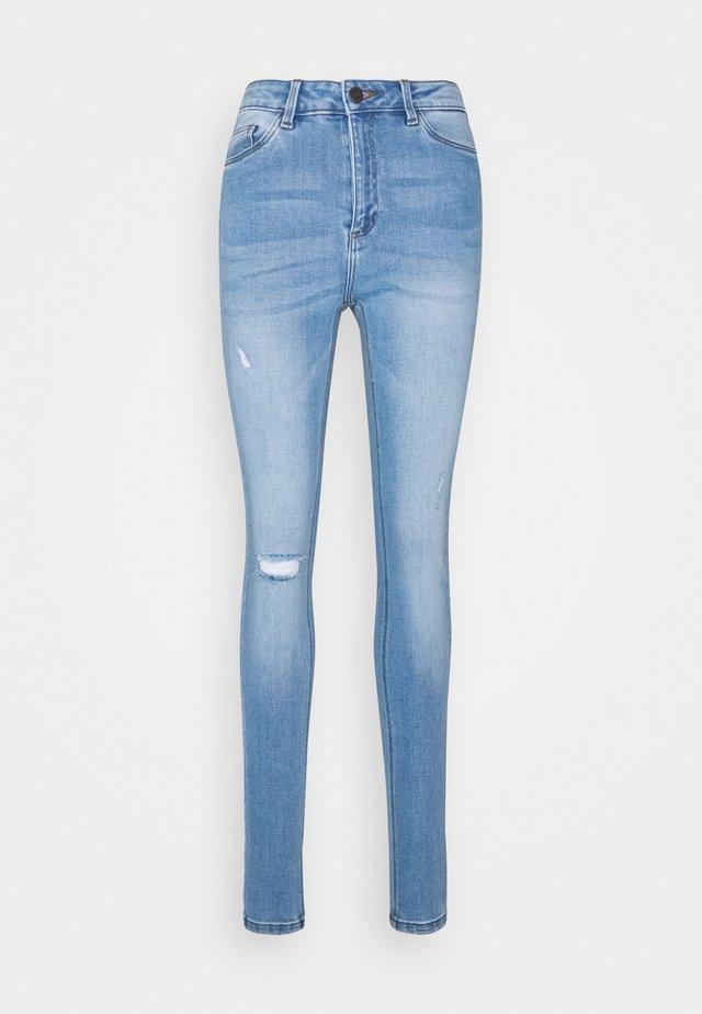 NMCALLIE CHIC - Skinny džíny - light blue denim