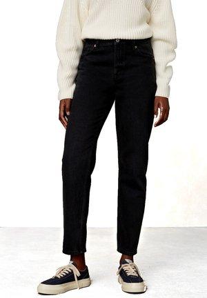 CAROLINE - Straight leg jeans - eco recycled black worn