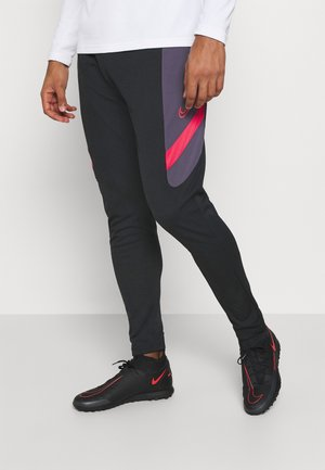 DRY ACADEMY PANT  - Tracksuit bottoms - black/dark raisin/siren red