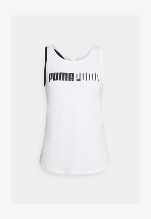 TRAIN LOGO CROSS BACK TANK - Funkční triko - white