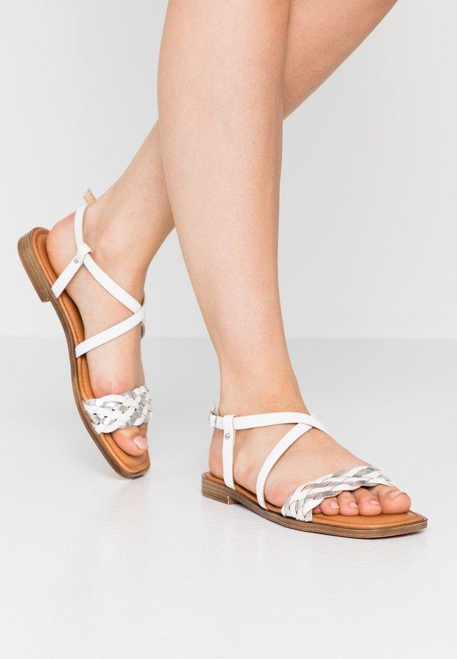 Sandales - white/silver