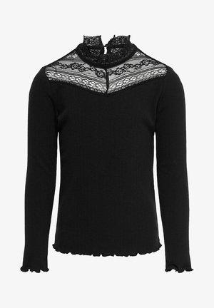 LANGEN ÄRMELN SPITZEN - Long sleeved top - black