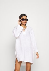 Seafolly - BEACH EDIT HARBOUR COVER UP - Beach accessory - white - 1