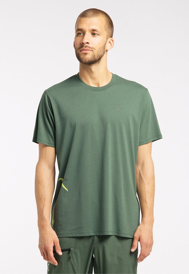 Print T-shirt - fjell green