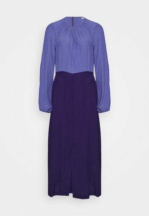 GATHERED NECK A LINE DRESS - Denní šaty - purple