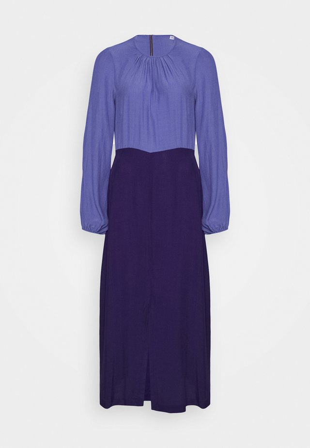 GATHERED NECK A LINE DRESS - Day dress - purple