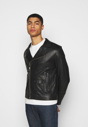SAIKAT BIKER JACKET - Leather jacket - black