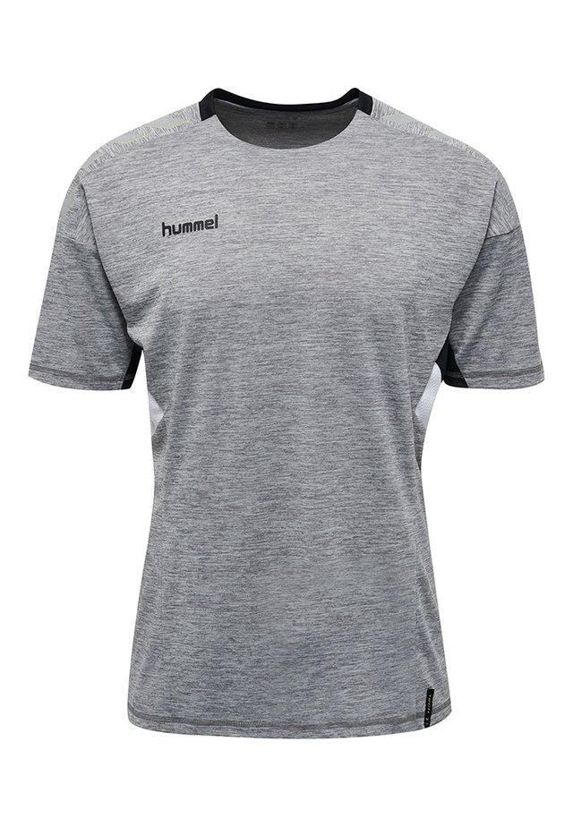 TECH MOVE - Print T-shirt - grey melange