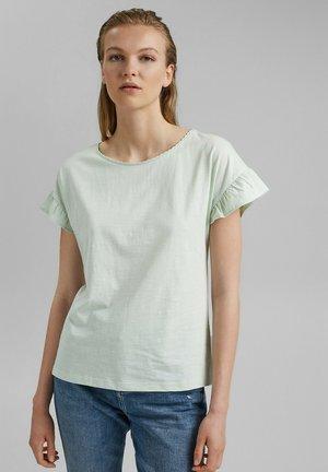 SLUB FRILL - Camiseta básica - pastel green