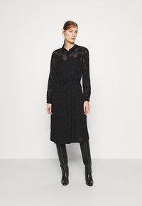 Moss Copenhagen - SERICE DRESS - Košilové šaty - black - 1