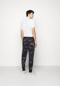 Paul Smith - GENTS FLORAL PRINT JOGGER - Pantaloni sportivi - black - 2