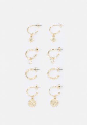 PCZAHRA EARRINGS 4 PACK - Øredobber - gold-coloured