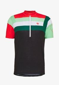 Ziener - NEPUMUK - Print T-shirt - black/fresh mint - 4