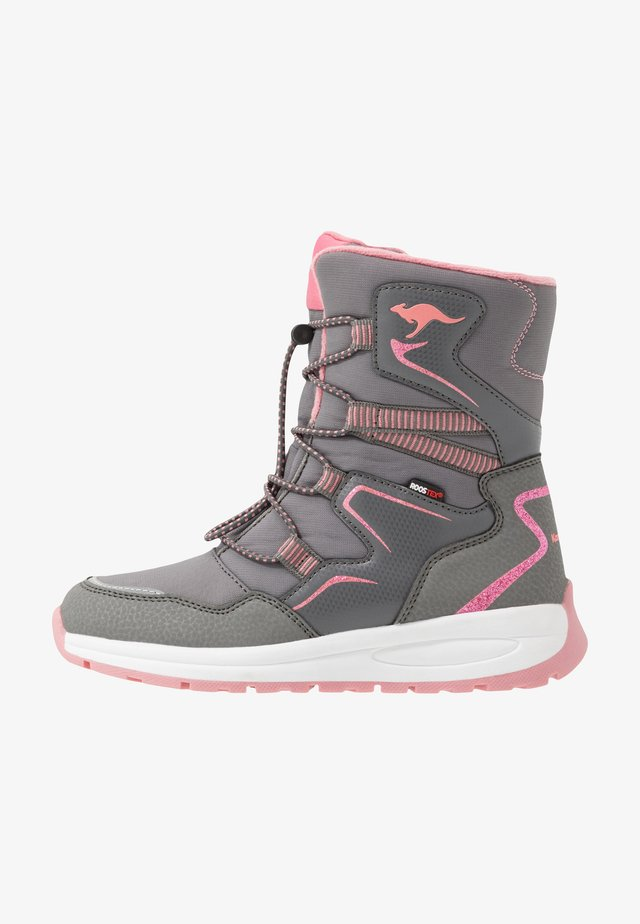 K-LUCKY RTX - Snörstövlar - steel grey/dusty rose