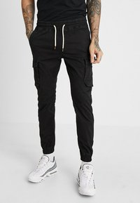 Pier One - Pantaloni cargo - black - 0